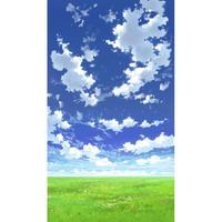 【イラスト背景】【合作】青空_縦PAN用04_04