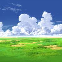 【イラスト背景】【合作】時差入道雲01_02