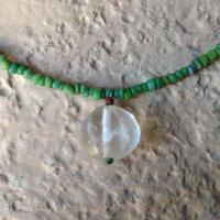 古代水晶トップのネックレス