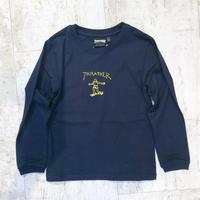 【キッズ】THRASHER×MARK GONZALES GONZ PRINT KIDS L/S NAVY