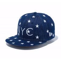 【キッズ】NEWERA Youth 9FIFTY スターズ オン デニム NYC インディゴデニム × ホワイト