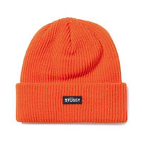 STUSSY Small Patch Watchcap Beanie ORANGE
