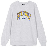 STUSSY TACKLE TWILL CREW ASH HEATHER