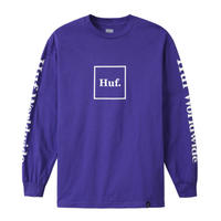 HUF DOMESTIC BOX LS TEE ULTRA VIOLET