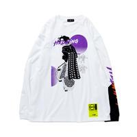 """HEDWiNG """"JYOCHO"""" Crosscut Longsleeve T-shirt White"""