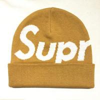 Supreme Big Logo Beanie DARK GOLD