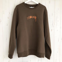 STUSSY  Smooth Stock App Crew BROWN