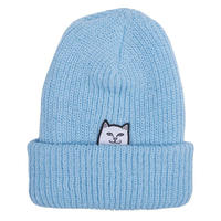 RIPNDIP Lord Nermal Ribbed Beanie BABY BLUE