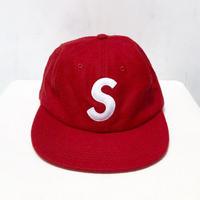 Supreme Wool S Logo 6 Panel Cap/RED