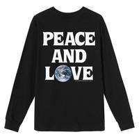 STUSSY PEACE & LOVE LS TEE BLACK