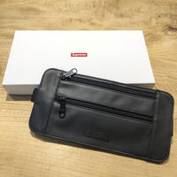 Supreme Leather Waist Shoulder Pouch BLACK
