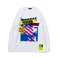 HEDWiNG Pierrot Mask Longsleeve T-shirt WHITE