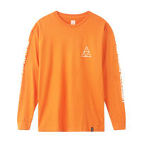 HUF ESSENTIALS TT L/S TEE RUSSET ORANGE