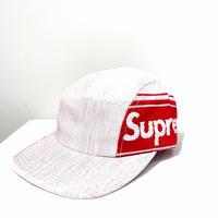 Supreme Raffia Woven Logo Camp Cap