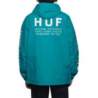 HUF REGIONAL TOUR ANORAK TROPICAL GREEN