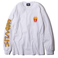 Deviluse Fries L/S T-shirts White