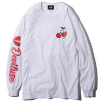 Deviluse Cherry L/S T-Shirts WHITE