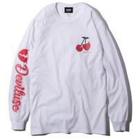 Deviluse Cherry L/S T-Shirts WHITE