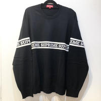 Supreme Logo Stripe Knit Top L