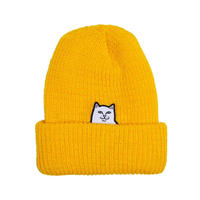 RIPNDIP Lord Nermal Ribbed Beanie GOLD