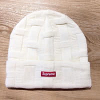 Supreme Basket Weave Beanie Natural
