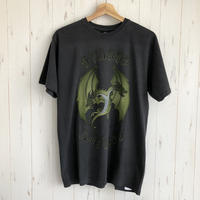 STUSSY Double Dragon Pig Dyed Tee BLACK