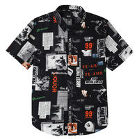 HUF HEADLINES S/S WOVEN SHIRT  BLACK