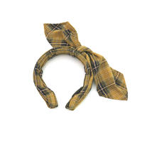 DEMODEE CHECK HEAD BAND  YELLOW