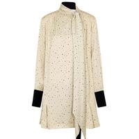 VVB SCARF DETAIL DRESS AGED IVORY