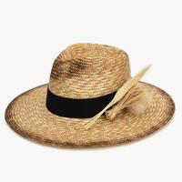 RUSLAN BAGINSKIY Whearsheaf-embellished Straw Fedra Hat