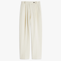 VVB   PLEATED BELTED TROUSER DOUBLE CREAM