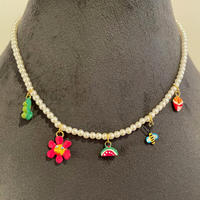 SUSAN ALEXANDRA  Pearly Tiny Joys Necklace water melon
