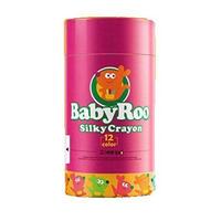 水でおとせる 水で落とせる水性クレヨンBaby Roo 安全 安心の天然色素使用 顔や手についたクレヨンは水で簡単に洗い流せます (12色セット)