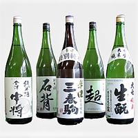 厳選5蔵元純米酒オリジナル 1.8L×5本飲み比べ