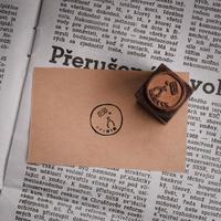 セミオーダー銅版はんこ【丸枠1.5cm角】箱入り