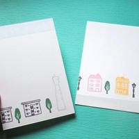 手捺しポストカード【暮らし】2枚組