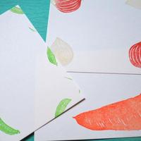 手捺しポストカード【野菜生活】3枚組