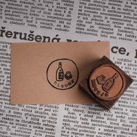セミオーダー銅版はんこ【丸枠3cm】箱入り