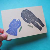 手捺しポストカード【卒業】1枚