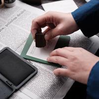 セミオーダー銅版はんこ【枠なし1.5cm角】箱入り