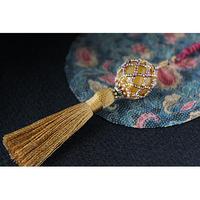 帯飾り*久寿玉(金茶)