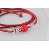 帯締め*dot/red