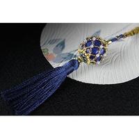 帯飾り*久寿玉(瑠璃色)