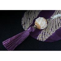 帯飾り*久寿玉(真珠色)
