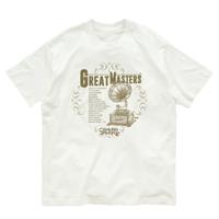 Great Masters T-shirt / レトロ蓄音機 AD Tシャツ(Organic Cotton)