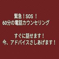緊急!SOS!の電話カウンセリング(60分 )