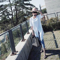 【送料無料】ロングTシャツ レディース トップス 半袖