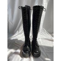 Black long boots
