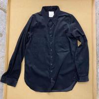 straightシャツ black コーデュロイ
