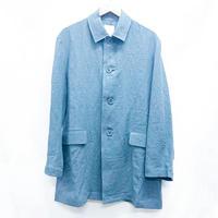 ステンカラージャケット リネン ブルー
